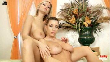 هاتان السيدتان ذوات الصدور الكبيرة تستخدمان لعبة تهتز مع Sexy Vanessa, Carol Goldnerova