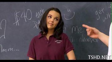 طالبة خاضعة لما تحبه في المعلم